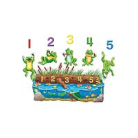 Five Speckled Frogs Bilingual Rhyme Flannelboard Set Pre-Cut LFV-22703