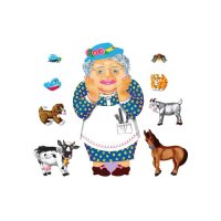 Old Lady Who Swallowed a Flannelboard Set  LFV-22706