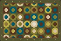 Natures Colors Calming Circles Rug w/ Alphabet Border 6' x 9' CK 17726