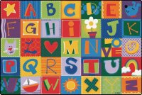 KIDSoft Alphabet Blocks in Primary 6' x 9' CK 3800