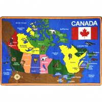 "Oh Canada 5'4"" x 7'8"" Rectangle JC1426C"