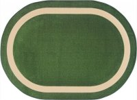 "Portrait Theme Area Rug 10'9"" x 13'2"" OVAL Greenfield JC1479GG"