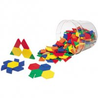 Plastic Pattern Blocks: .5 CM LER 0134
