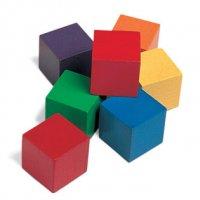 One-Inch Wooden Color Cubes, Set of 102 LER 0136