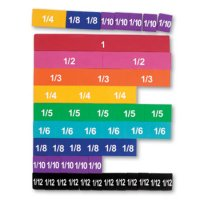 Soft Foam Magnetic Rainbow Fraction® Tiles LER 0611