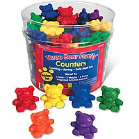 Three Bear Family® Counters: Rainbow Set LER 0744