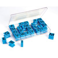 Uppercase Alphabet Rubber Stamps EI-1470
