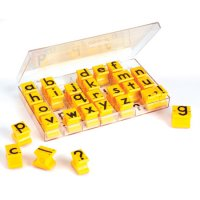Lowercase Alphabet Rubber Stamps EI 1471