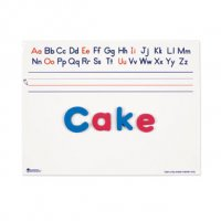 "Magnetic Dry-Erase Alphabet Board, Set of 10 boards 9"" x 12"" each LER 1489"