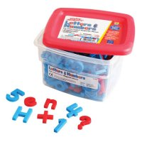 AlphaMagnets® and MathMagnets Color-Coded Magnets, Set of 214 EI-1639