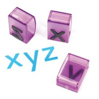 See and Stamp™ Jumbo Lowercase Alphabet Transparent Stamps EI-1645