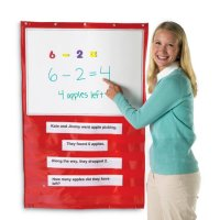 Write-On/Wipe-Off Magnetic Hanging Pocket Chart LER 2417