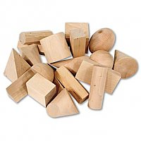 Wood Geometric Solids, Set of 19 LER 4298