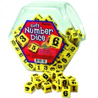 Hands-On Soft™ Number Dice LER 6350