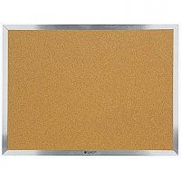 "Quartet® Cork Board with Aluminum Frame, 36"" x 48"" QTR-871022"