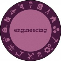 "STEAM Classroom ENGINEERING Rug 7'7"" Round JC 1912CC-03"