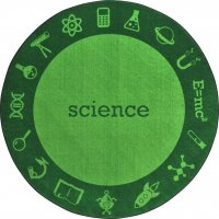 "STEAM Classroom SCIENCE Rug 7'7"" Round JC 1912CC-01"