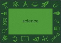 STEAM Classroom SCIENCE Rug 5'4 X 7'8 Rectangle JC 1912C-01
