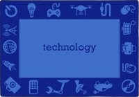 STEM Classroom Technology Rug  5'4 X 7'8 Rectangle JC 1912C-02