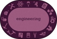 "STEAM Classroom ENGINEERING Rug 7'8"" X 10'9 OVAL JC 1912CC-03"