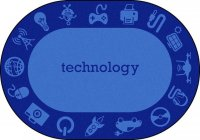 "STEAM Classroom TECHNOLOGY Rug 10'9"" X 13'2 OVAL JC 1912CC-02"