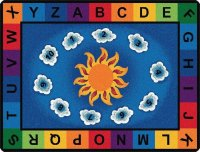 Sunny Day Learn and Play Classroom Rug 8'4 x 11' CK 89412