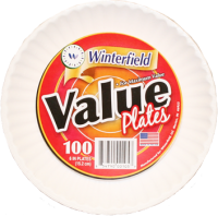 VALUE WHITE PLATES 6""
