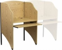 Starter Study Carrel in Oak Finish [MT-M6201-OAK-GG]
