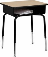 Student Desk with Open Front Metal Book Box FD-DESK-GG