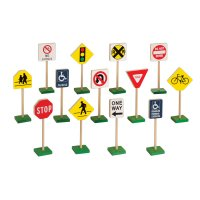Guidecraft™ 7″ Block Play Traffic Signs G309