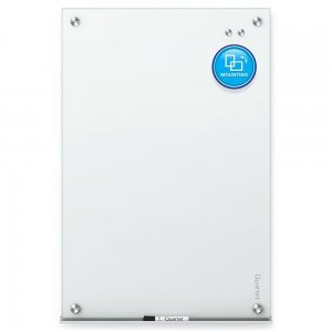 "Quartet Infinity Magnetic Glass Dry Erase Board, White, 96"" X 48""  (3820117)"