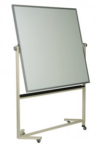 Magnetic Porcelain High Performance Double Surface Reversible White Board (50 YEARS SURFACE WARRANTY) Size:4' x 4' S555