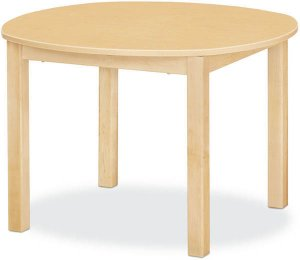 "Maple Classroom Table High pressure Laminate Top 3/4""Solid Maple Apron & legs 30""Round (Legs Height Option Available) JB-904"