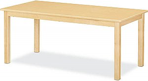 "Maple Classroom Table High pressure Laminate Top 3/4""Solid Maple Apron & legs 24""X 48"" (Legs Height Option Available) JB-902"