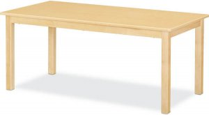 "Maple Classroom Table High pressure Laminate Top 3/4""Solid Maple Apron & legs 24""X 36"" (Legs Height Option Available) JB-901"