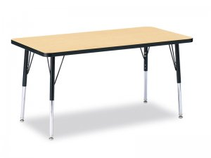 "Activity Table 30""x 72"" Rectangle Melamine Laminate table tops Adjustable Height (COLOUR OPTION AVAILABLE) 6413JCT"