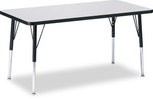 "Activity Table 24"" x 36"" Rectangle Melamine Laminate table tops Adjustable Height COLOUR OPTION 6478JCT"