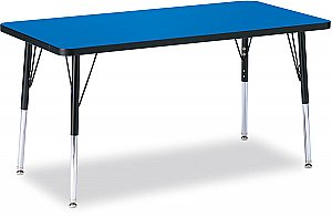 "Activity Table 24"" x 48"" Melamine Laminate table tops Adjustable Height COLOUR OPTION AVAILABLE 6403JCT"