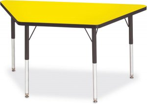 "Activity Table 24""x24""x48""  Trapezoid Melamine Laminate table top Adjustable Height (COLOR OPTION AVAILABLE) 6438JCT"