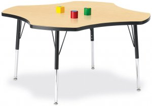 "Activity Table 48"" CLOVER Laminate Table Top Adjustable Height (COLOR OPTION AVAILABLE) 6453JCT"