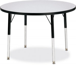 "Activity Table 42"" Round Laminate Table Top Adjustable Height (COLOR OPTION AVAILABLE) 6468JCT"