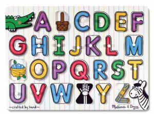 See-Inside Alphabet Peg Puzzle  Item MD- 3272