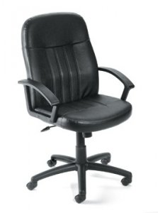 Executive Leather Budget Chair Black B8106LF