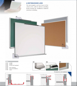 "Porcelain Dry Erase Board, Aluminum Frame, 48"" x144"" (50 Year Warranty) 200048144 PO BC"