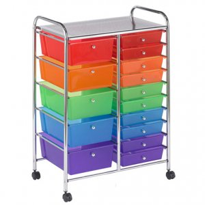 15 Drawer Mobile Organizer -Assorted ELR-20103-AS