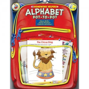 Homework Helpers Alphabet Dot-to-Dot PK 1 Workbook FS109002