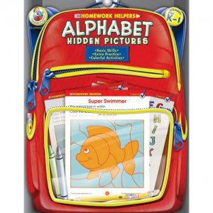 Homework Helpers Alphabet Hidden Pictures PK 1 Workbook FS109003
