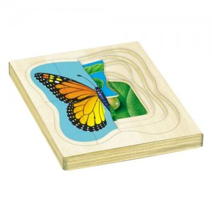 How a Butterfly Grows Wooden Layered Puzzle A15-J48100
