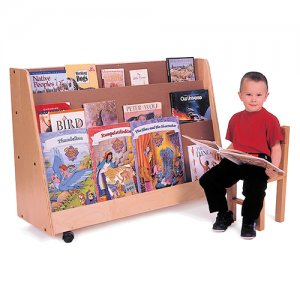 Book Display Shelf with castors S320