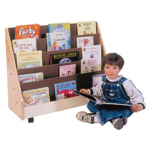 Primary Book Rack with castors TS324